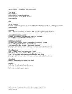 Beautiful Resume Samples For High School Students Flickr Photo Sharing Http