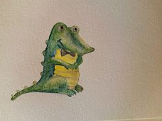 Henryenee Dudek: Schnapi upgraded version :) aquarell, wax aquare...