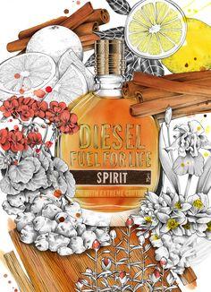 carolewilmet.com - Diesel Fragrances Illustrations