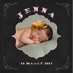 Geboortekaartje Jenna - www.babyjewels-geboortekaarten.nl