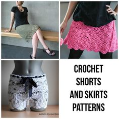 It's too hot out there for crochet scarves and cowls, but there are other ways you can show off your favorite stitches. These crochet shorts and skirts patterns are perfect for wearing over your swimsuit or for everyday wear.