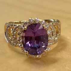 """Erica Courtney on Instagram: """"And this little #purple #oneofakind #sapphire....I'm in #love!!! #oneofakind #jewelrylover #jewelsofinstagram #jewlery #showmeyourrings…"""""""