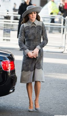 Kate Middleton Goes Monochromatic For Commonwealth Observance Day