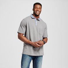 Men's Big Club Polo Shirt Gray 5XB - Merona, Shirts & Tops