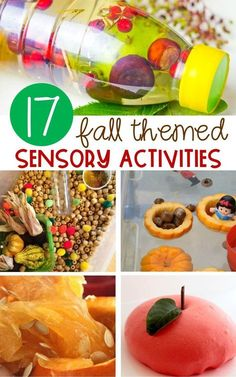 These fall sensory activities are perfect for preschoolers and kindergarten kiddos. They would be so fun for a classroom sensory bin this fall! Fall Activities For Toddlers, Fall Preschool, Preschool Class, Preschool Learning, Kindergarten Activities, Classroom Activities, Thanksgiving Preschool, Classroom Projects, Preschool Science