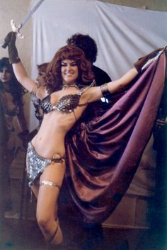 Wendy Pini, of Elfquest fame, cosplaying as Red Sonja. circa 1970s.
