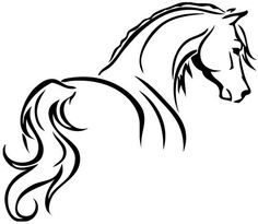 Risultato immagini per tribal horse tattoo Horse Drawings, Art Drawings, Horse Outline, Horse Silhouette, Silhouette Images, Silhouette Cameo, Wood Burning Patterns, Desenho Tattoo, Horse Art