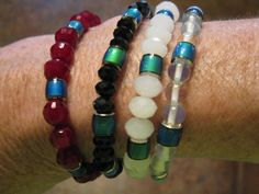Bracelet, mood beads, color changing by las81101 on Etsy