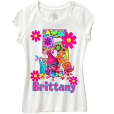 trolls birthday shirt any name and age | wishesandkisses - on ArtFire