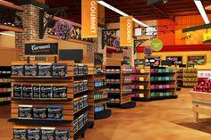 Maxi Foods | Supermarket Design by I-5 Design - http://www.i5design.com/portfolio/supermarket-design/maxi-foods/