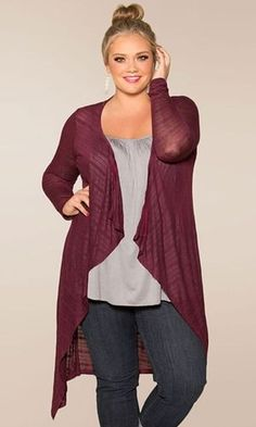 Burgundy red plus size fall fashion styles - ...although I'm not plus sized, I always look it in pictures
