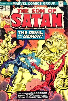 Marvel Comics SON of SATAN a new series of Satanist Supernatural Comic Action by John Warner Sonny Trinidad Marvel Comics Superheroes, Marvel Comic Books, Comic Books Art, Comic Art, Book Art, Marvel Dc, Daimon Hellstrom, Midnight Son, Supernatural Comic