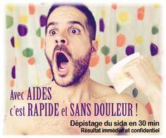 AIDES : test rapide du VIH/sida, anonyme, gratuit et à résultat immédiat