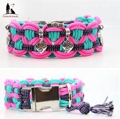 Neu!! <3 Wunderschöne #Paracord #Hunde #Halsbänder und #Leinen JETZT in meinem Shop erhältlich ab 20 € www.preiswolf24.de 10% der Einnahmen gehen an die Hunde von www.hundehilferumaenien.com #Hundehalsbänder