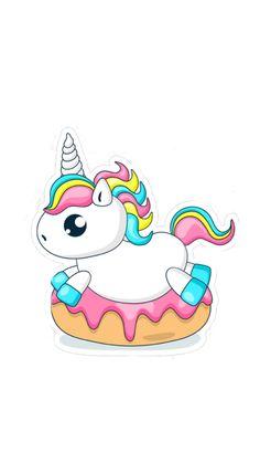 Candy coloured unicorn on doughnut Unicorn Drawing, Unicorn Art, Cute Rainbow Unicorn, Cute Unicorn, Kawaii Doodles, Kawaii Chibi, Kawaii Drawings, Cute Drawings, Candy Drawing