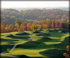 The Pete Dye Course, home of the 2010 PGA Championship, is carved into the southern Indiana hillsides. In 2001 I took Aquila customers to the  PGA school at the French Lick Golf Resort and we spent a week here getting lessons and playing this world class course.