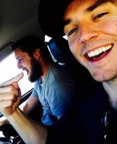 mrsamclaflin Eat my finger. On our way to work. Sam Calfin, Latest Instagram, Instagram Posts, Hollywood Music, Paul Rudd, Man Photo, Movie Trailers, Celebrity Pictures, My Boys