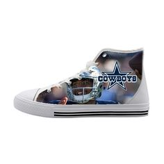 Dallas Cowboys Dak Prescott Customized High Top Canvas Shoes