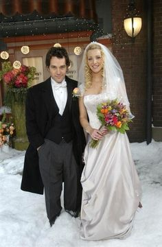 Friends - Phoebe & Mike  One of the most romantic tv weddings ever.  I love Paul Rudd and I love this wedding dress!