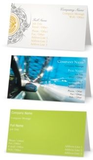 Vista Print folding business cards