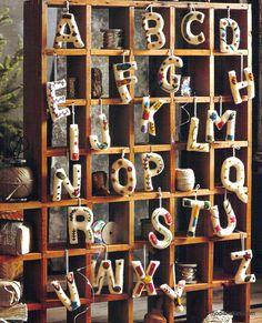 Roost Artful Alphabet Ornaments – Modish Store