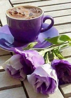 Javamelts Flavored Sweeteners For Coffee and Tea Purple Love, All Things Purple, Purple Stuff, Deep Purple, Good Morning Coffee, Coffee Break, Goog Morning, Gif Café, Pause Café