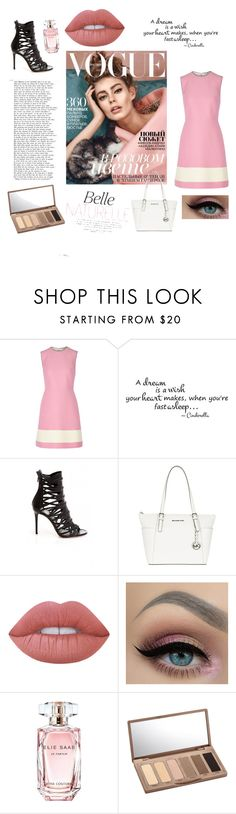 """Untitled #80"" by manarn5 on Polyvore featuring Fendi, MICHAEL Michael Kors, Lime Crime, Elie Saab and Urban Decay"