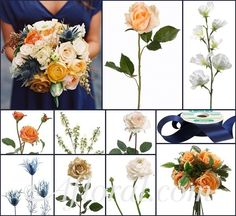 #peach wedding #peach and navy wedding #afloral http://blog.afloral.com/daily-scoop/peach-navy-wedding-flowers-emilys-inspiration-board/#.Uebuy0H2aSo