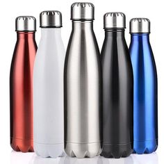Buy Double-Wall Insulated Vacuum Flask Stainless Steel Water Bottle Cola Water Beer Thermos for Sport Bottle