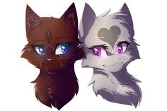 This is a commission from Takai-Yubikiri Characters: Bloodclaw (dark ginger she-cat), and Serenelight (light grey she-cat) Bloodclaw