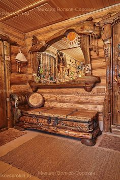 Sharing my obsessive love of rustic cabin life through photos and art I have collected. Rustic Log Furniture, Wood Furniture, Log Cabin Homes, Log Cabins, Cabin Interiors, Cabins In The Woods, Barn Wood, Wood Art, Rustic Decor