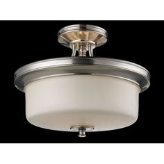 Cannondale Three-Light Semi-Flush Mount - this is the semi flush that we finally purchased for the bathroom.
