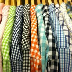 Men's gingham shirts