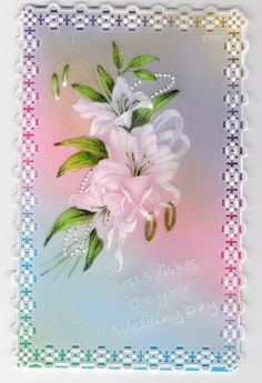 By Carolyn C.  Parchment card coloured with polychromo pencils. Dorothy Holness Pattern.