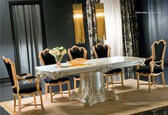 Victorian Style Dining Room Furniture | victorian dining room appollonia include rectangular dining table 86 w ...