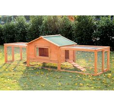 Rabbit Hutch Large Wooden House Chicken Hoop PEN Cage Small Animal | eBay