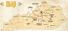 The Bourbon Trail... Eight distilleries that produce 98% of all Bourbon. From  Lexington to Bardstown, Kentucky