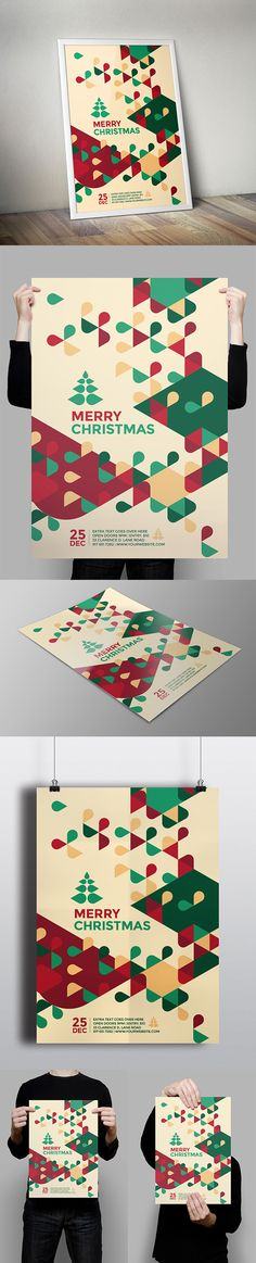 Modern Christmas Flyer. Download here: http://graphicriver.net/item/modern-christmas-flyer/9587884?ref=abradesign #christmas #flyer #poster #design
