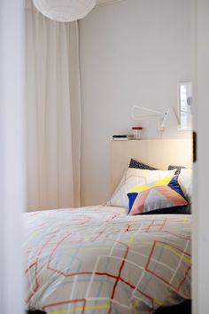 Master bedroom in BoKlok show home, Finland; Photo Skanska Kodit, www.boklok.fi