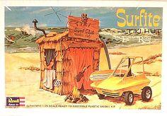 Surfite with tiki hut