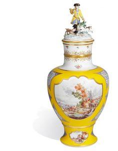 """Vase """"Hunting scenes"""", H 60 cm"""