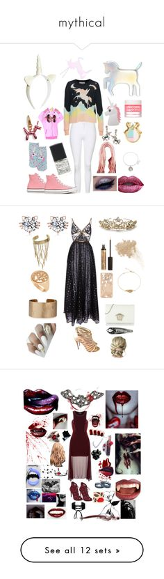 """""""mythical"""" by karabear3256 ❤ liked on Polyvore featuring Converse, Topshop, H&M, WithChic, Me & Zena, Southwest Moon, Alex and Ani, Living Royal, Miss Selfridge and Wildfox"""