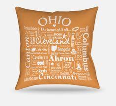 Ohio Location Pillow