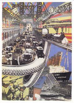 Poster Vintage I924, Yuri Rozhkov, photo-montage for Mayakovsky's poem.