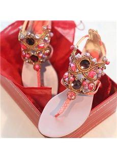 27ef0b1a0 16 Best Jeweled Flat Sandals images