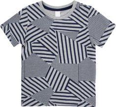 ARCH & LINE Geometric-stripe cotton t-shirt 3-12 years