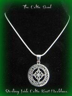 Beautiful Sterling Silver Celtic Irish Knot Circle Necklace on Etsy, $32.79 AUD