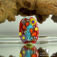 1 handmade lampwork bead focal  freeformed  SRA  by calypsosbeads, $33.00