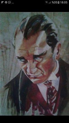 Ebruyla calistigim Atatürk