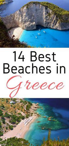 Planning a Greek Holiday? Here are the 14 best beaches in Greece for your Greek Island Hopping adventure! #greece #beaches #europe #Crete  #Karpathos #Kefalonia #Lefkada #Messinia #Milos #Mykonos #Naxos #Rhodes #Santorini #Skiathos #Zakynthos #travel #europeantravel #europeanvacation #holiday #summer #bestbeaches